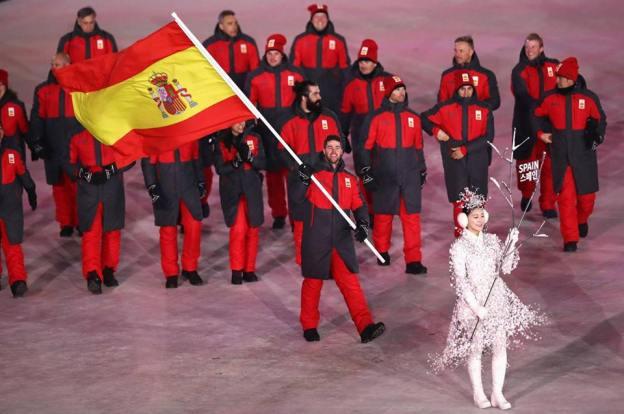 Desfile del equipo español en PyeongChang