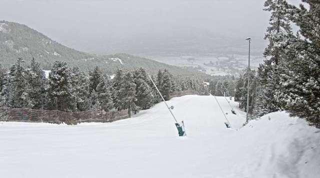 Masella, donde por la mañana del miércoles nevaba todavía
