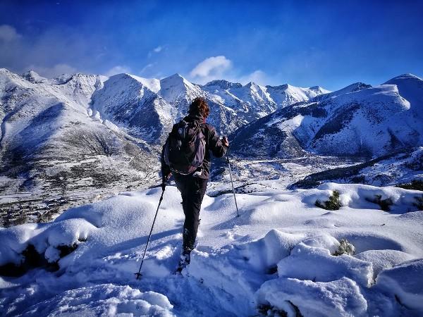 El senderismo del ivierno