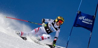 Nina Ortlieb, hija del campeón olímpico y mundial de descenso Patrick Ortlieb, se ha llevado el segundo gigante de La Molina y consolida su liderato en la Copa de Europa FOTO: Oriol Molas
