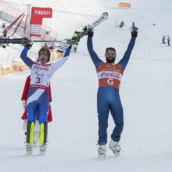 Jon Santacana y Miguel Gallardo se han colgado una plata en la supercombinda mnás que merecida después de quedarse a pie de podio en las dos pruebas previas que disputaron FOTO: Paralímpicos.es