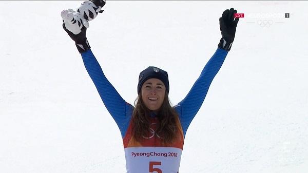 Sofia Goggia, primera campeona olímpica de descenso italiana