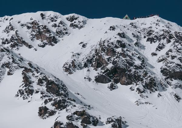 Vista de la salida del FWT de Arcalís