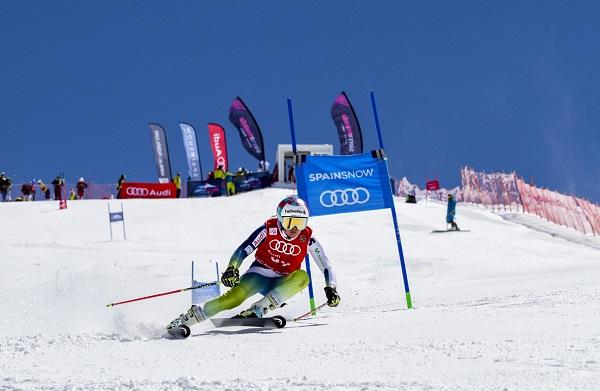 Júlia Bargalló ha vuelto a ganar hoy y se ha proclamado en Sierra Nevada campeona de España de gigante FOTO: Alejandro Molina FADI