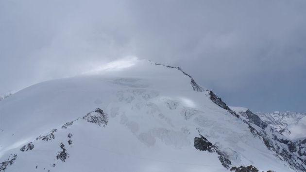 Lugar de los Alpes suizos, Arolla, donde los montañistas quedaron atrapados