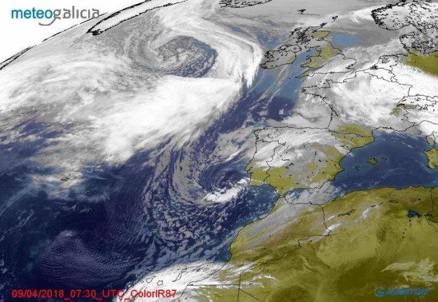 Una perturbación muy activa entrará por la Península el miércoles