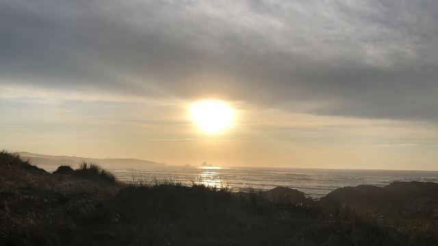 Atardecer en las playas de Santander