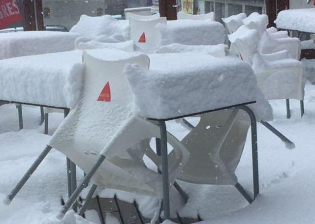 Otra imagen de la nevada de esta semana en el Pas de la Casa