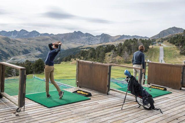Una imagen del golf más alto de Europa