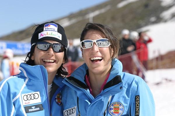 María José Rienda y Carolina Ruiz, miembros de la Asamblea General del COE. Foto: RFEDI-Spainsnow