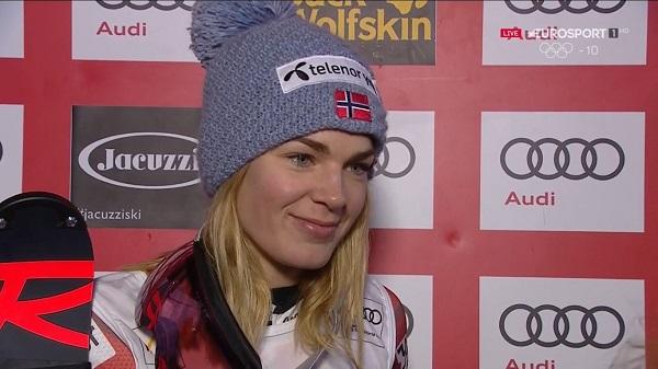 Para Nina Haver-Loeseth la paridad entre los géneros ayudó a decidirse en convertirse esquiadora profesional