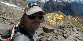 Mingote esta semana en los preparativos antes de alcanzar la cima de Mansalu