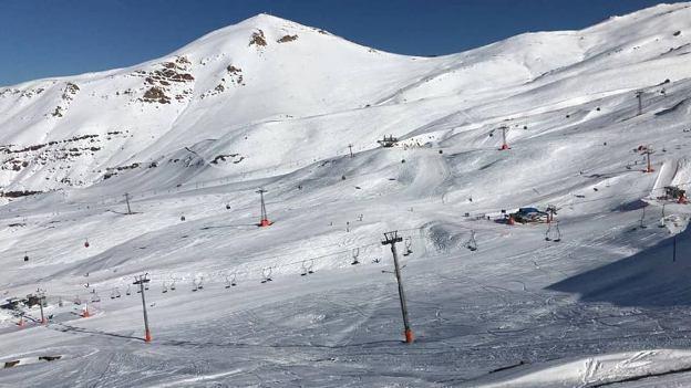 Aspecto de Valle Nevado después de las nevadas