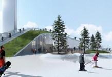 La zona esquiable de la planta incineradora de Copenhague se pondrá en marcha el 1 de diciembre. FOTO: www.magasinetkbk.dk_.jpg