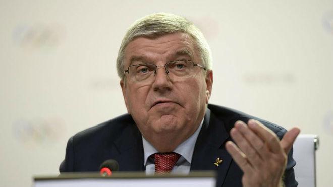 Thomas Bach, presidente del COI. AFP