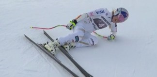 Lindsey Vonn no estará en Lake Louise al haberse lesionado una rodilla