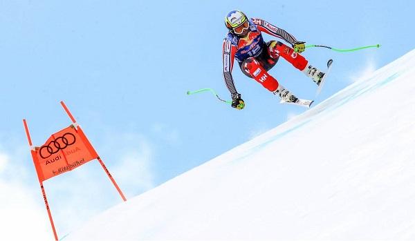 Manuel Osborne Paradis se rompió tibia y peroné izquierdos entrenando el descenso de Lake Louise. FOTO: Alpine Canada