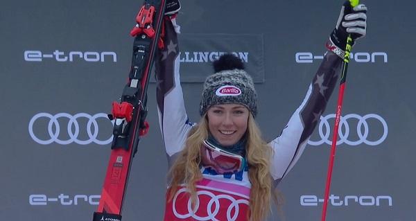 Tercera victoria consecutiva de Shiffrin en el slalom de Killington y segunda de la temporada