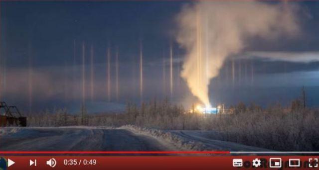 Se avistaron pilares luminosos en Norilsk