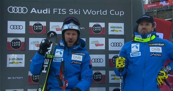 Dominio noruego en Val Gardena con Svindal y Janrud en el podio y Aleksander Aamodt Kilde y Adrian Smiseth Sejersted cuarto y séptimo respectivamente