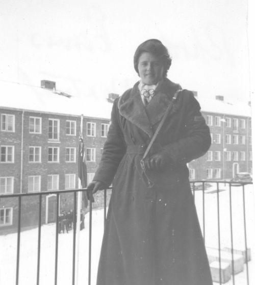 Rhoda Wurtele en los Juegos de Oslo1952. FOTO: www.skimuseum.ca