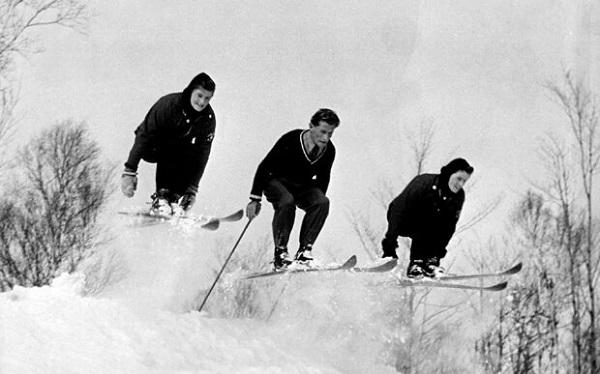 Las Wurtele entrenando con el austriaco Hermann Gadner. FOTO: Byron Rempel/Wurtele Collection