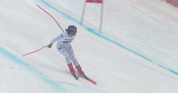 Excelente retorno a la competición de Sofia Goggia, que ha acabado segunda.