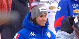 Sofia Goggia presenció el slalom de Courchevel pero no está clara su presencia en el Mundial de Are.