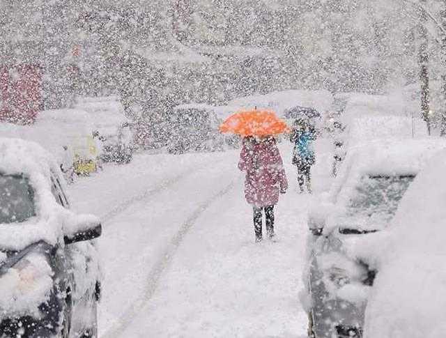 Una instantánea de la nevada en Grecia