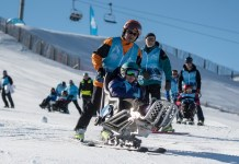 El sábado el sector de El Tarter de Grandvalira se volcó con 'Campeones del Mundo en Solidaridad', una jornada en la que personas con diversidad funcional descubrieron el esquí de competición. FOTO: Grandvalira