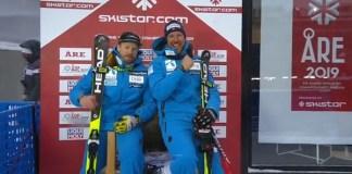 Kjetil Jansrud y Aksel Lund Svindal, los mejores en el complicado descenso del Mundial de Are.
