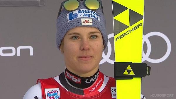 Nicole Schmidhofer ha pasado de tercera a cuarta y finalmente segunda.