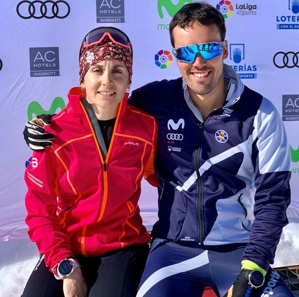 Marta Cester e Imanol Rojo, campeones de España de fondo.