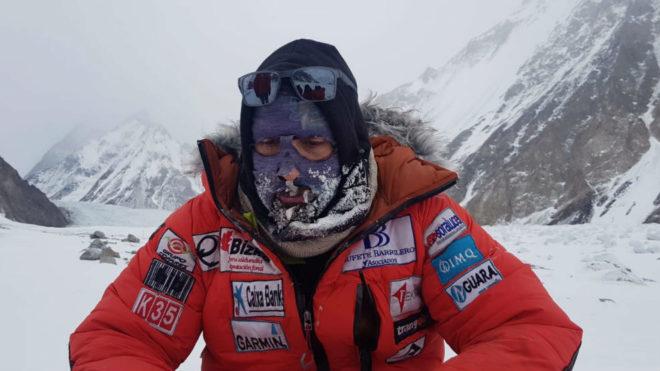 Una imagen de Alex Txikon en el K2 antes de partir al Nanga Parbat