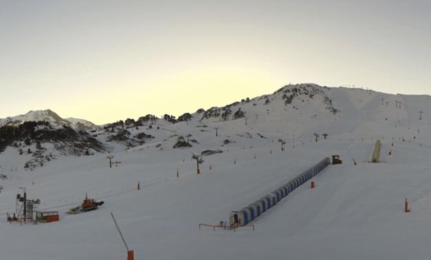 Baqueira se aproxima todavía a los dos metros de nieve