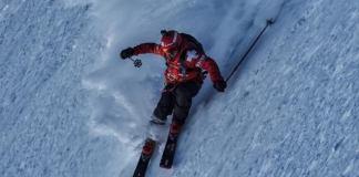 Aymar Navarro antes de la caída en la última roca que le apartó de todas las opciones