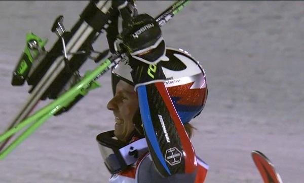 Kristoffersen tras proclamarse campeón del mundo de gigante en Are, el pasado febrero.