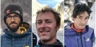 Imagen de los tres alpinistas