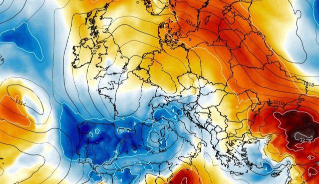 Anomalía de las temperaturas para este final de semana