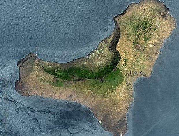 Una imagen aérea de El Hierro