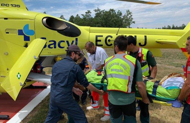 El senderista fue evacuado rápidamente con helicóptero medicalizado
