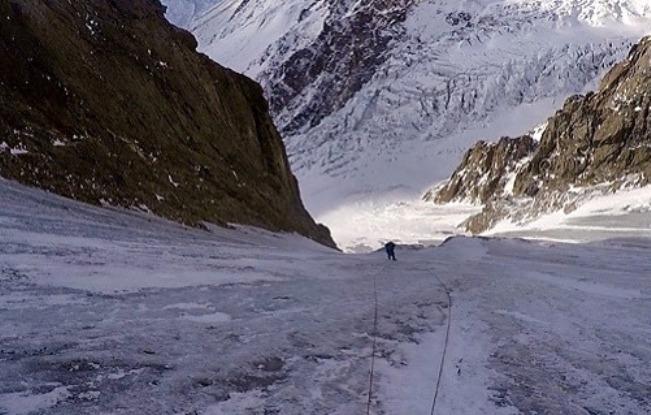 El alpinista podría llegar en unas horas al Campo 2 del Nanga Parbat