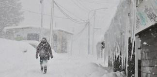 La nieve ha llegado con fuerza a Ushuaia