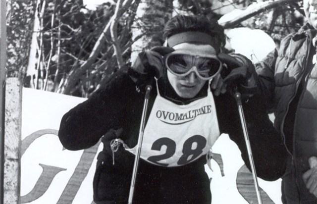 Otra imagen del velocista austriaco Egon Zimmermann