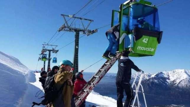 Momento del rescat en cerro Caterdal