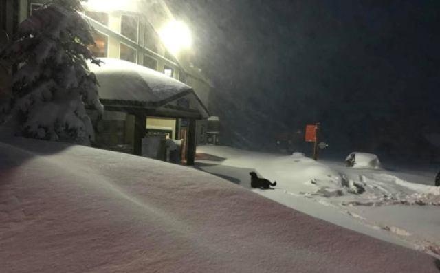 Así amanecía la estación de esquí Castle Mountain