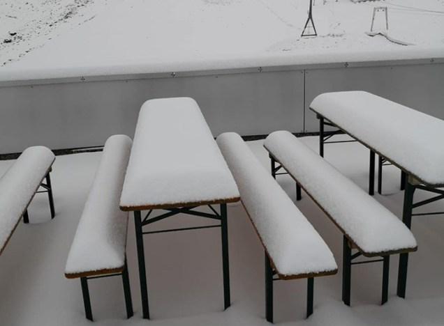 Tiempo con nevadas en los Alpes