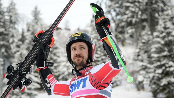 Marcel Hirscher durante una competición. AFP