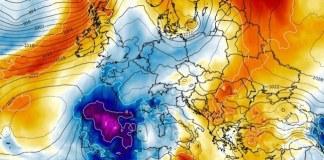 la masa fria se instala en la Península