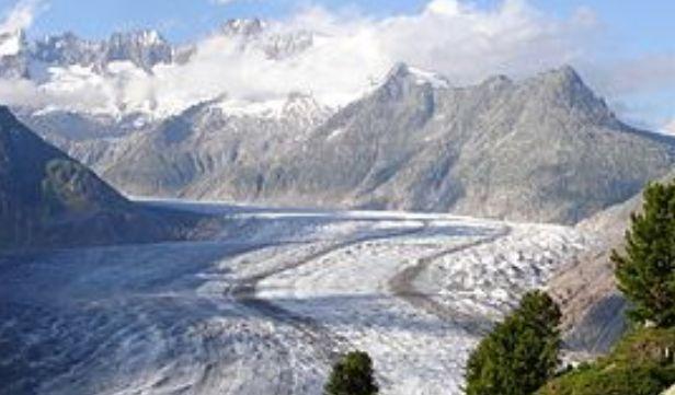 Una imagen del glaciar suizo Aletsch